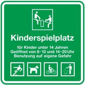 Kinderspielplatz - geöffnet von 8-20 Uhr