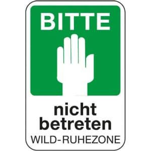 Bitte nicht betreten - Wild-Ruhezone
