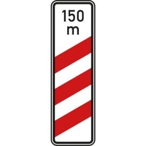 VZ 157-11 Dreistreifige Bake mit Entfernungsangabe