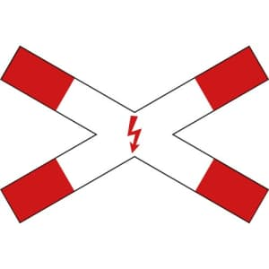 Verkehrszeichen 201-53 - Andreaskreuz liegend