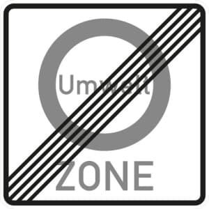 Verkehrsschild Umweltzone - Ende - VZ 270.2
