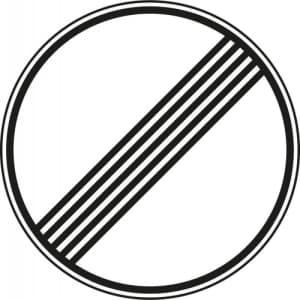 Verkehrszeichen 282 - Ende sämtlicher Streckenverbote