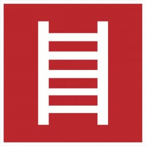 Notausstieg / Leiter doppelseitig bedruckt