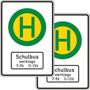Schulbusschild für Bushaltestelle VZ 224-41