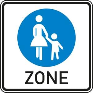VZ 242.1 - Schild Fußgängerzone Beginn
