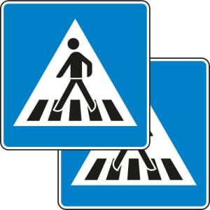 VZ 350-40 Verkehrsschild Fußgängerüberweg