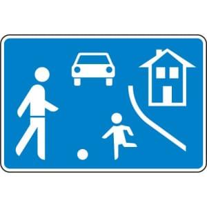 VZ 325.1 Verkehrsberuhigung Spielstraßenschild