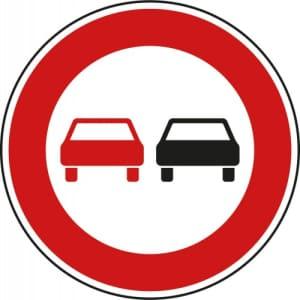 VZ 276 - Verkehrsschild Überholverbot für Kraftfahrzeuge