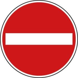 VZ 267 - Verbot der Einfahrt Verkehrsschild