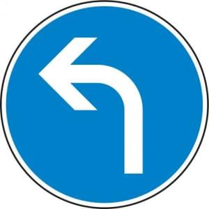 VZ 209-10 Vorgeschriebene Fahrtrichtung links