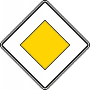 VZ 306 Vorfahrtstraße Schild