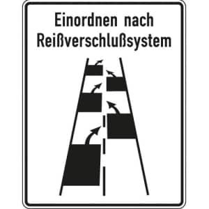 Verkehrsschild Reißverschlussverfahren