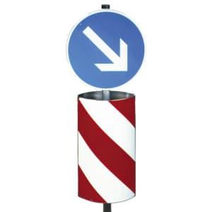Verkehrsleitsäule zylindrisch-elliptische Form