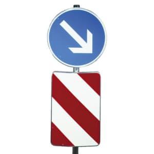 Verkehrsleitsäule in Alformschild