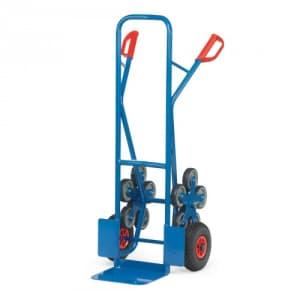 Stahlrohr-Treppenkarre mit kleiner Schaufel, Luftbereifung und Treppensternen - Tragkraft 200 kg