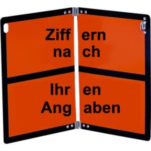 Warntafel mit Kennzeichnung nach Ihren Angaben - klappbar