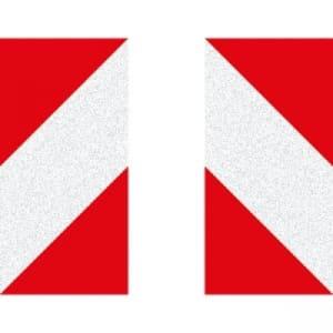 KFZ-Warnmarkierung, reflektierend Typ 2 - Anwendungspaket