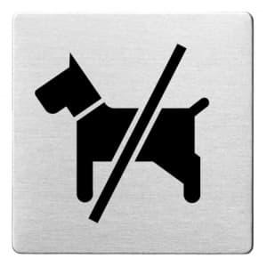 Piktogramm - Hunde verboten (ecken abgerundet)