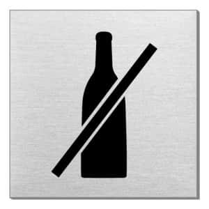 Piktogramm - Flaschen verboten (quadratisch)
