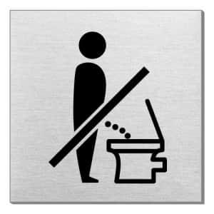 Piktogramm - Die Toilette nicht im Stehen benutzen (quadratisch)