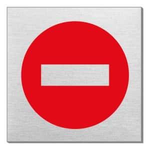 Piktogramm - Durchgang verboten (quadratisch)