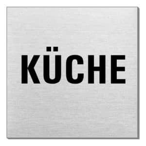 Textschild - Küche (quadratisch)