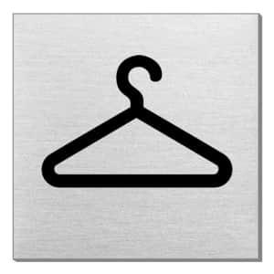 Piktogramm - Garderobe (quadratisch)