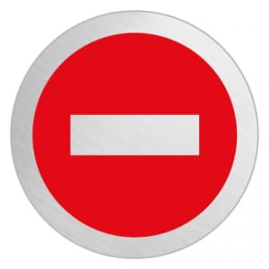 Piktogramm - Durchgang verboten (rund)