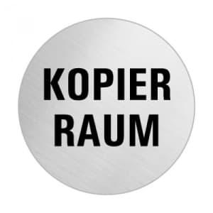Textschild - Kopierraum (rund)