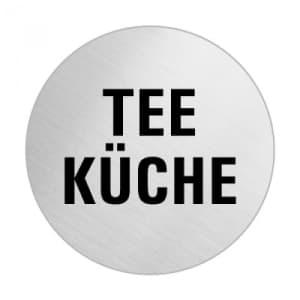 Textschild - Teeküche (rund)