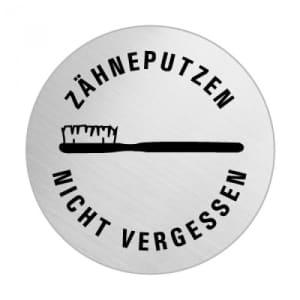 Textschild+Symbol - Zähneputzen nicht vergessen