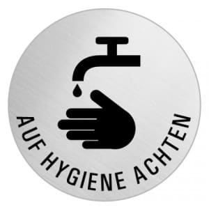Piktogramm - Auf Hygiene achten