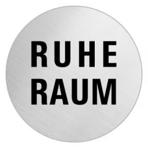 Textschild - Ruheraum (rund)