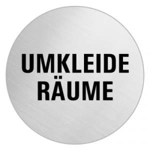 Textschild - Umkleide Räume (rund)