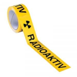 Paketband / Verpackungsband mit Warnhinweis Radioaktiv