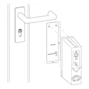 Montageplatte für Türwächter für Brandschutztüren