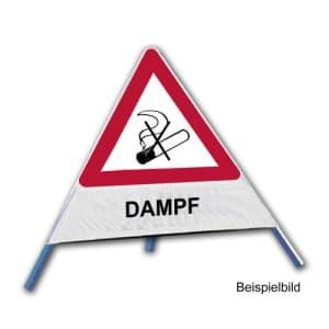 Faltsignal - Rauchverbot mit Text: DAMPF