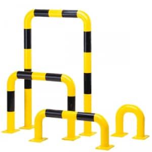 Rammschutzbügel WACHTWERK X® gelb schwarz aus Stahl