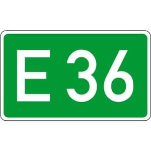 Europastraße Schild gemäß StVO - VZ 410