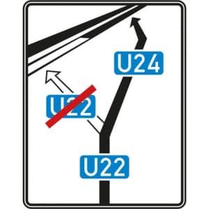VZ 466 StVO-Schild Weiterführende Bedarfsumleitung