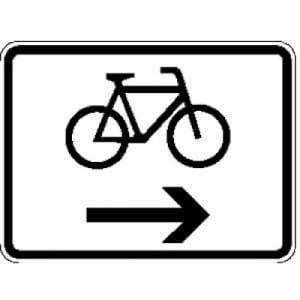 Fahrräder, rechtsweisend Zusatzzeichen VZ 2202