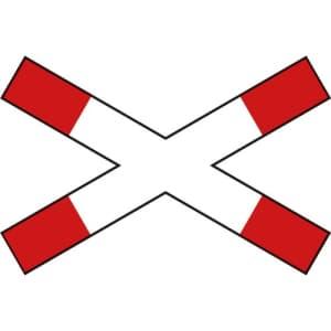 Andreaskreuz liegend VZ 201-52