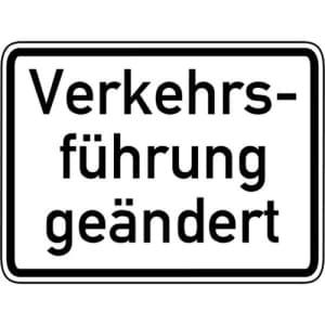 Zusatzschild Verkehrsführung geändert VZ 1008-31