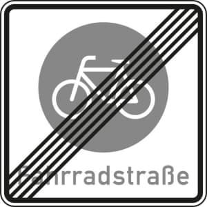 Verkehrsschild Fahrradstraße Ende VZ 244.2