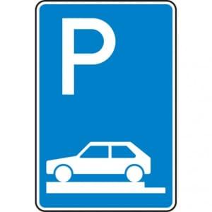 Verkehrszeichen 315-80 Parken auf Gehwegen Schild