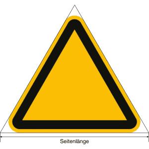 Warnung vor heißer Oberfläche nach ISO 7010 (W 017)