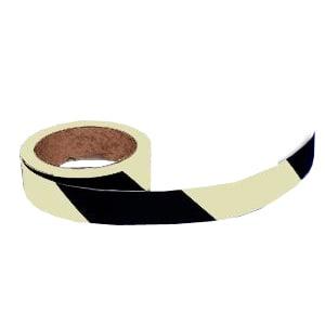 Warnmarkierungsband schwarz/weiß, langnachleuchtend - Rolle
