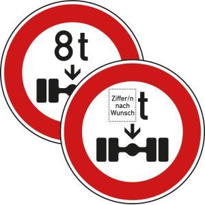 VZ 263 - Verkehrsschild Tatsächliche Achslast
