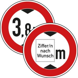 VZ 265 Verkehrsschild Durchfahrtshöhe