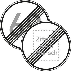 Höchstgeschwindigkeit Ende - Verkehrsschild VZ 278
